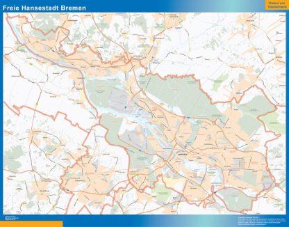 Mapa Bremen gigante