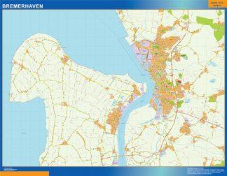 Mapa Bremerhaven en Alemania gigante