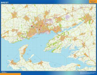 Mapa Brest en Francia gigante