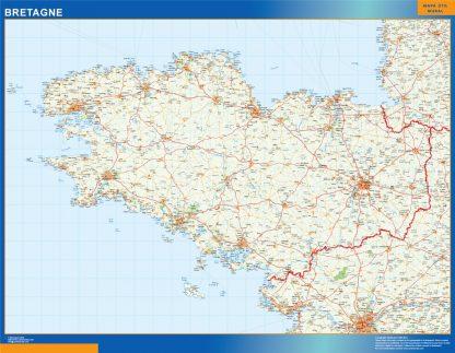 Mapa Bretagne en Francia gigante