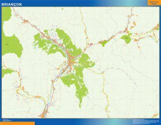 Mapa Briancon en Francia gigante