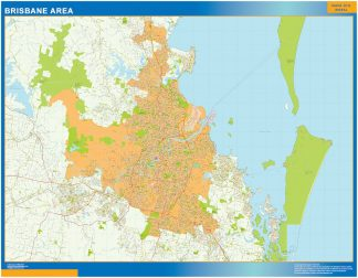 Mapa Brisbane Area Australia gigante