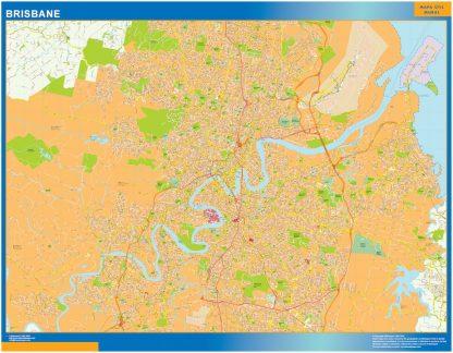 Mapa Brisbane Australia gigante