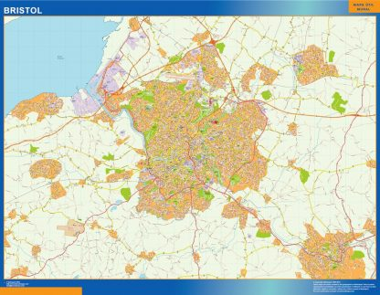 Mapa Bristol gigante