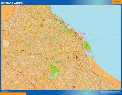 Mapa Buenos Aires en Argentina gigante