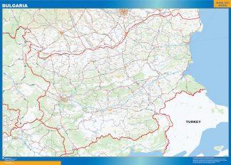 Mapa Bulgaria gigante