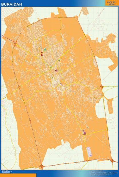 Mapa Buraidah en Arabia Saudita gigante