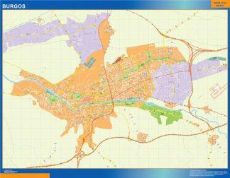 Mapa Burgos callejero gigante