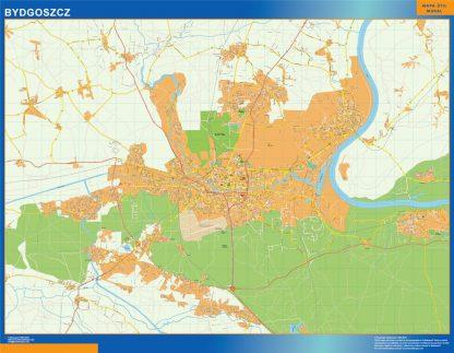 Mapa Bydgoszcz Polonia gigante