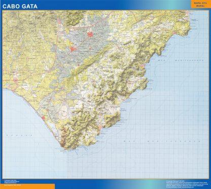 Mapa Cabo Gata gigante