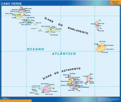 Mapa Cabo Verde gigante