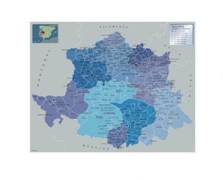 Mapa Caceres por municipios gigante