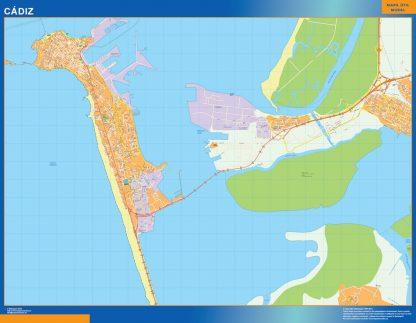 Mapa Cadiz callejero gigante