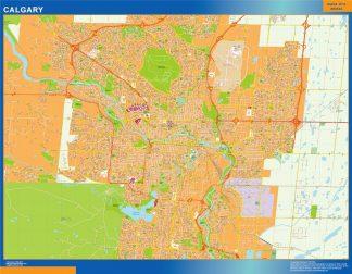 Mapa Calgary en Canada gigante