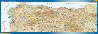 Mapa Camino Santiago gigante