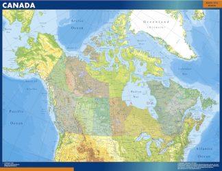 Mapa Canada gigante