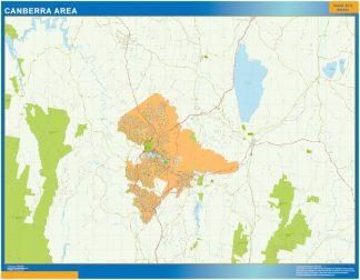 Mapa Canberra Area Australia gigante