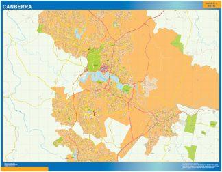 Mapa Canberra Australia gigante
