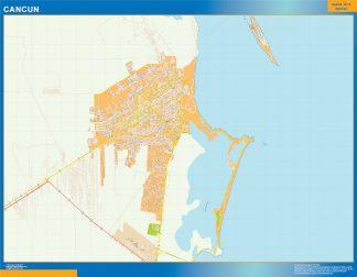 Mapa Cancun en Mexico gigante