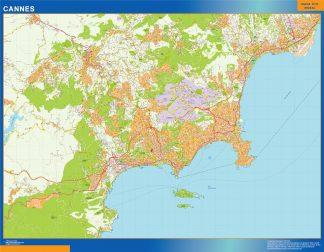 Mapa Cannes en Francia gigante
