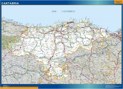 Mapa Cantabria carreteras gigante