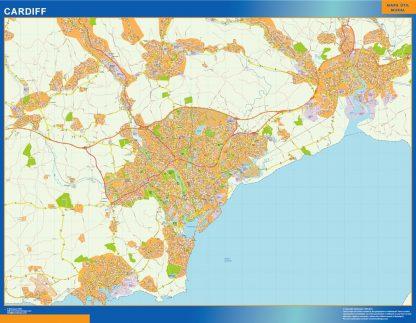 Mapa Cardiff gigante