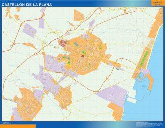 Mapa Castellon de la Plana callejero gigante