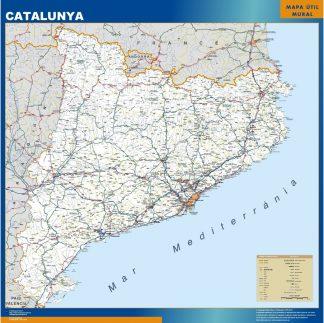 Mapa Cataluña carreteras gigante