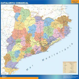 Mapa Cataluña comarcal gigante