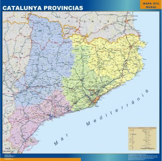 Mapa Cataluña provincias gigante