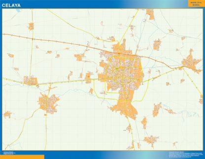 Mapa Celaya en Mexico gigante