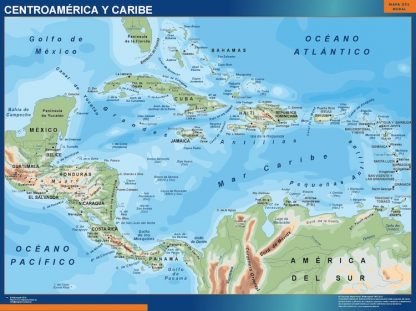 Mapa Centroamerica gigante