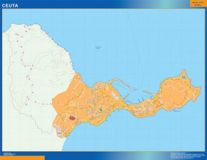 Mapa Ceuta callejero gigante
