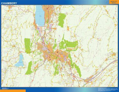 Mapa Chambery en Francia gigante