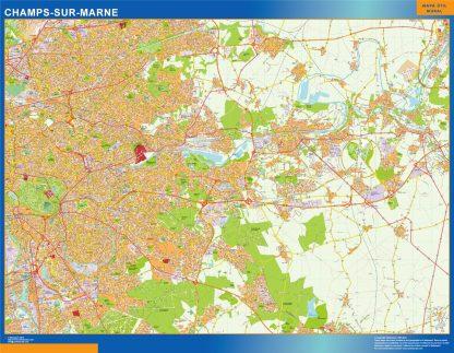 Mapa Champs Sur Marne en Francia gigante
