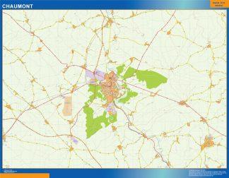 Mapa Chaumont en Francia gigante