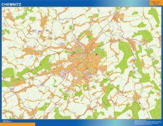 Mapa Chemnitz en Alemania gigante