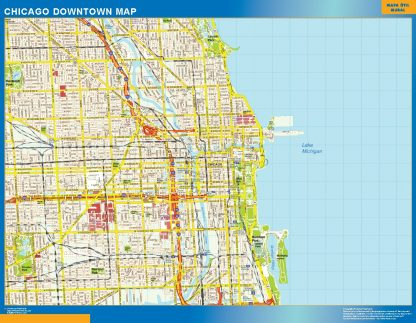 Mapa Chicago downtown gigante