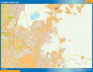 Mapa Chimalhuacan en Mexico gigante