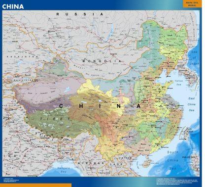 Mapa China gigante