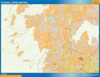 Mapa Ciudad Lopez Mateo en Mexico gigante