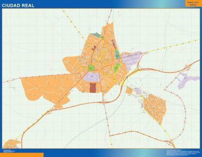 Mapa Ciudad Real callejero gigante