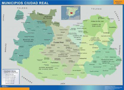 Mapa Ciudad Real por municipios gigante