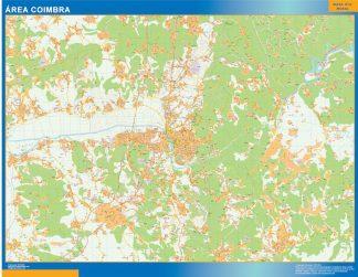Mapa Coimbra área urbana gigante