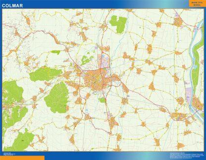 Mapa Colmar en Francia gigante