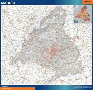 Mapa Comunidad Madrid físico gigante