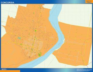 Mapa Concordia en Argentina gigante