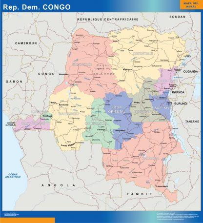 Mapa Congo gigante