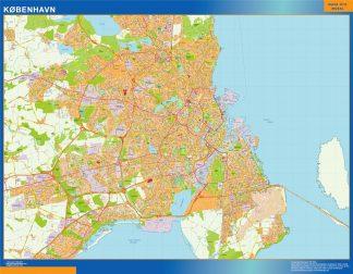 Mapa Copenhague en Dinamarca gigante