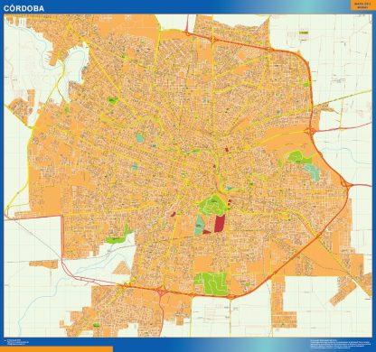Mapa Cordoba en Argentina gigante